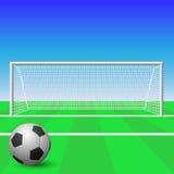 Obiettivo di calcio Fotografie Stock Libere da Diritti