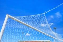 Obiettivo di calcio Immagini Stock Libere da Diritti