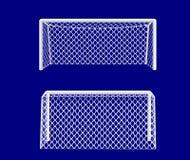 Obiettivo di calcio dal lato. Immagine Stock Libera da Diritti