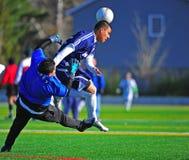 Obiettivo di calcio del randello del Mens Fotografie Stock Libere da Diritti
