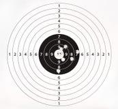 Obiettivo di carta per pratica della fucilazione Fotografia Stock Libera da Diritti