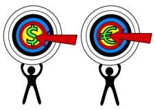 Obiettivo di Curency del dardo Immagine Stock