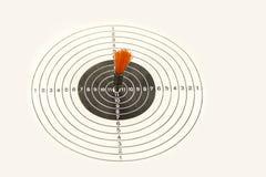Obiettivo di fucilazione su un fondo bianco Sfera differente 3d fotografia stock libera da diritti