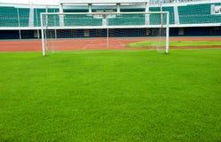 Obiettivo di gioco del calcio Fotografie Stock