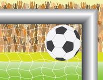 Obiettivo di gioco del calcio (calcio) Fotografia Stock Libera da Diritti