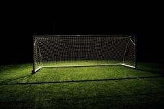 Obiettivo di gioco del calcio di obiettivo di calcio Fotografie Stock
