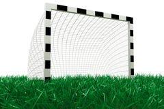 Obiettivo di gioco del calcio su erba Immagine Stock