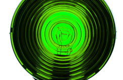 Obiettivo di indicatore luminoso verde Immagini Stock