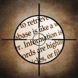 Obiettivo di informazioni Immagini Stock Libere da Diritti