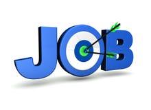 Obiettivo di job Fotografie Stock