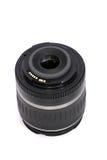 Obiettivo di macchina fotografica nero di SLR immagini stock libere da diritti
