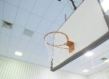 Obiettivo di pallacanestro Fotografia Stock