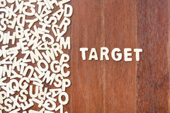 Obiettivo di parola fatto con le lettere di legno del blocco Immagini Stock
