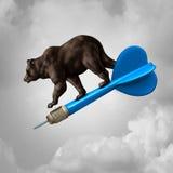 Obiettivo di previsione del mercato di orso illustrazione di stock