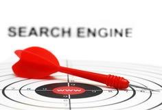 Obiettivo di Search Engine Immagini Stock Libere da Diritti