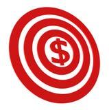 Obiettivo di soldi illustrazione di stock