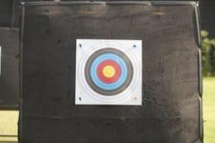 Obiettivo di tiro con l'arco fotografie stock
