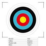 Obiettivo di tiro con l'arco Vettore Fotografia Stock
