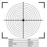 Obiettivo di tiro con l'arco Vettore Immagini Stock Libere da Diritti