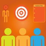 Obiettivo di vendite di affari Fotografia Stock