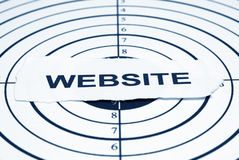 Obiettivo di Web site Fotografie Stock