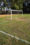 Obiettivo e campo di calcio Immagini Stock Libere da Diritti