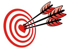 Obiettivo e cuore Fotografia Stock