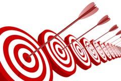 Obiettivo e frecce illustrazione di stock