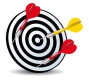 Obiettivo e frecce Immagine Stock Libera da Diritti