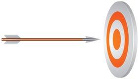 Obiettivo e freccia Fotografia Stock