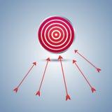 Obiettivo e freccia Fotografie Stock Libere da Diritti