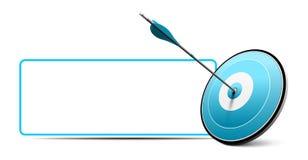 Obiettivo e freccia, icona di affari di vettore Fotografia Stock