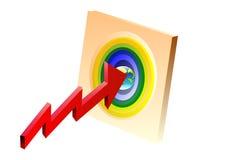 Obiettivo e globo Fotografie Stock