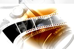 Obiettivo e macchina fotografica Fotografie Stock
