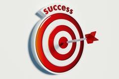 Obiettivo e successo Fotografie Stock Libere da Diritti