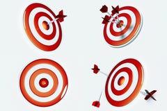 Obiettivo e successo Immagini Stock Libere da Diritti