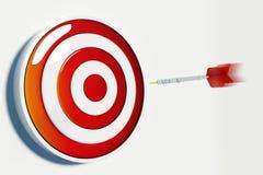 Obiettivo e successo Fotografia Stock Libera da Diritti