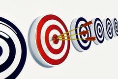 Obiettivo e successo Immagine Stock Libera da Diritti