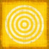 Obiettivo giallo di Grunge Fotografie Stock Libere da Diritti