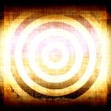 Obiettivo giallo di Grunge Immagine Stock