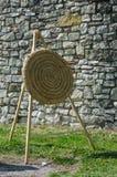 Obiettivo giallo per la freccia Fotografie Stock