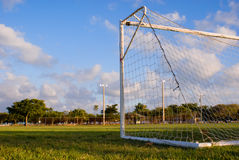 Obiettivo gioco del calcio/di calcio immagine stock libera da diritti