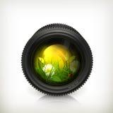 Obiettivo, icona Fotografie Stock Libere da Diritti