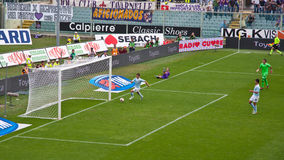 Obiettivo invalidato Fiorentina Lazio, serie l'Italia Fotografia Stock Libera da Diritti