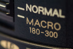 Obiettivo macro Fotografie Stock