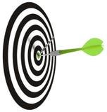 Obiettivo o obiettivo di affari Immagine Stock