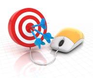 Obiettivo online Fotografia Stock