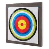 Obiettivo per la fucilazione appuntata al supporto, obiettivo su un fondo bianco, isolato di colore immagine stock libera da diritti