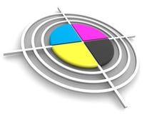 Obiettivo poligrafico. CMYK illustrazione vettoriale