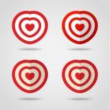Obiettivo rosso del cuore Fotografia Stock